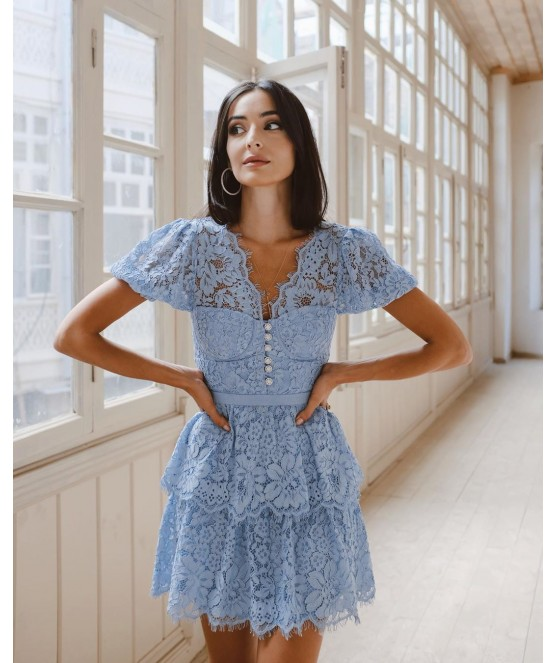 NELIA Lace Mini Dress